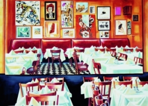 Martin Kippenberger: Paris Bar, 1993, Acrylic on canvas, 259 x 360 cm, François Pinault Foundation (detail) © Estate Martin Kippenberger, Galerie Gisela Capitain, Cologne