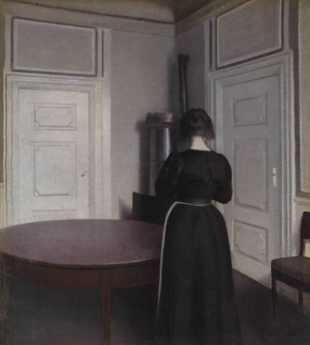 Interior 1899 by Vilhelm Hammershoi 1864-1916
