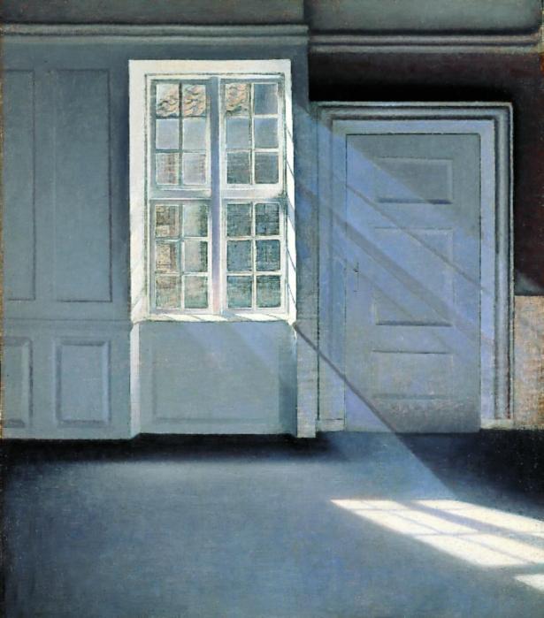 3_Vilhelm Hammershøi, Støvkornenes dans i solstrålerne, 1900