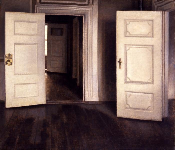 4_Vilhelm Hammershøi, Åbne døre, 1905