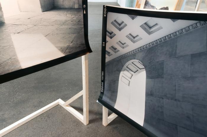 No Exit I-II, 2013, C-prints, pinewood, [190 x 200 x 150 cm]