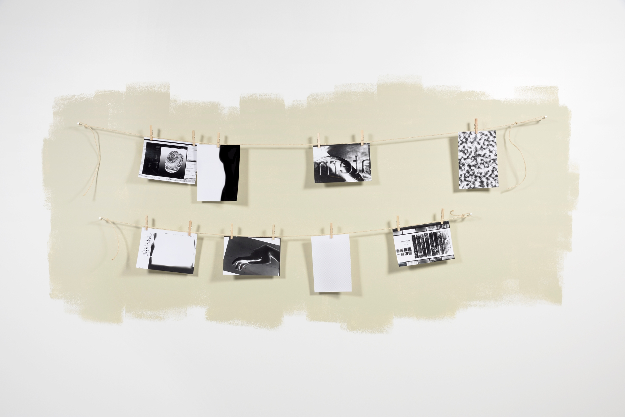 Screen Dumps, 2015, Photographic paper exposed with LCD light from retina displays