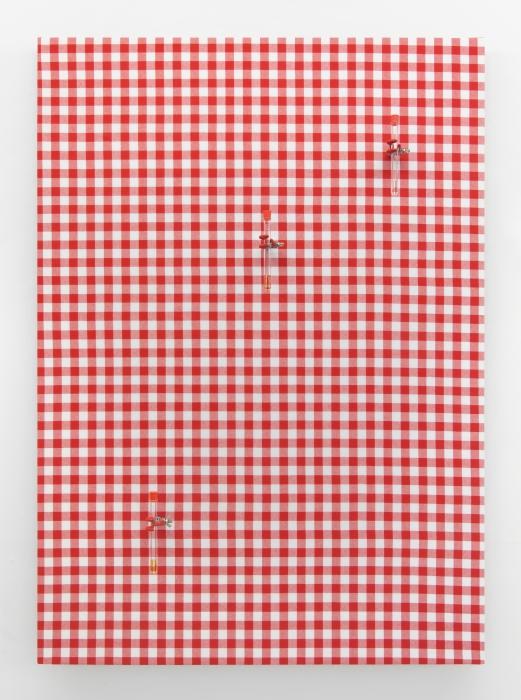 """Table 5; pepper, cherry, vanilla"" 2015, aromaer, dug, reagensglas, kemigreb, bordplade."